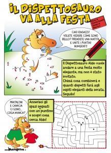 Il dispettosauro Aldo, ebook illustrati per bambini gratis e stampabili