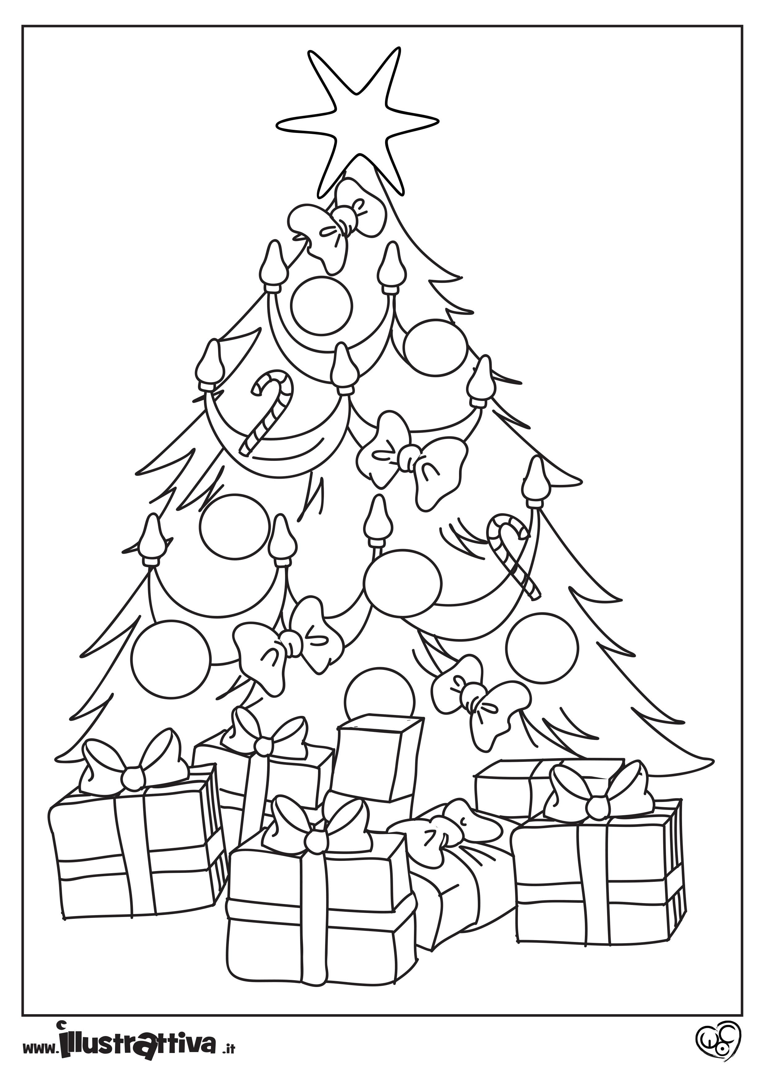 Albero Natale Da Colorare Per Bambini.Albero Da Colorare Illustrattiva Libri Illustrati Ebook Per Bambini