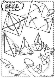 origami rana origami rana salterina, Origami in Azione, semplici origami per bambini