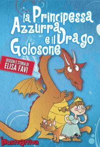 ebook Principessa Azzurra e il Drago Golosone, Ebook EPUB 3 interattivo, Ebook illustrati per bambini gratis e stampabili