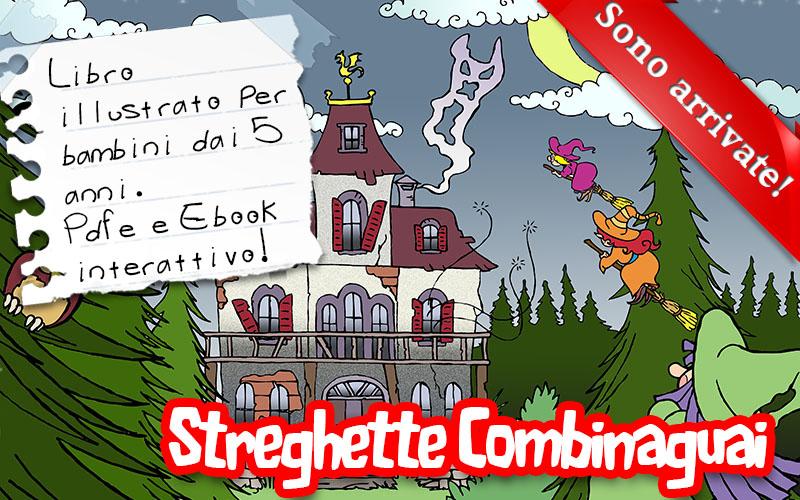 Streghette Combinaguai, e-book illustrato gratuito per bambini.